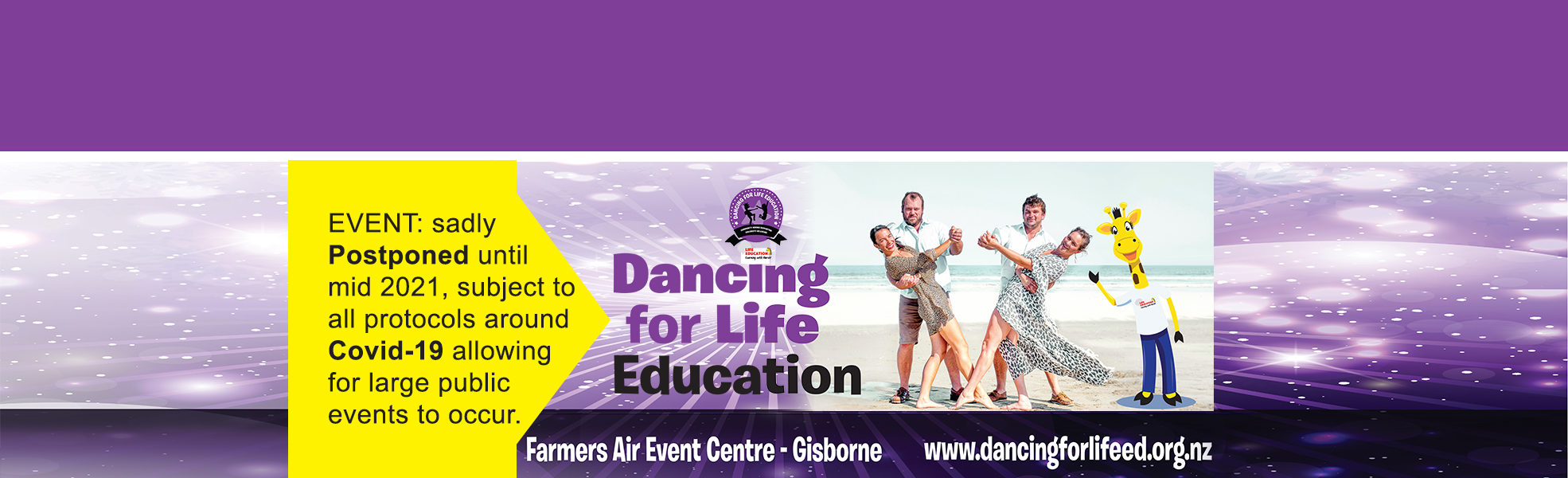 Dancing for Life Education Banner 1970 x 600 Postponed4