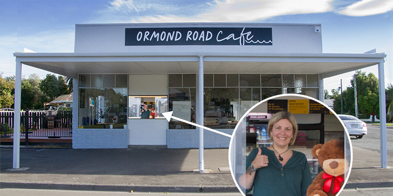 Gisborne. Ormond Road Cafe - possibly the FIRST Coffee Shop to OPEN online in Gisborne at 7am Tues. 28 April